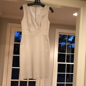 Trina Turk Size 4 short neutral cocktail dress.